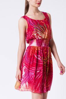 Легкое шелковистое платье с поясом-резинка CONVER