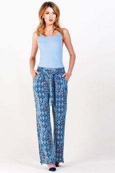 Синие брюки из штапеля Sheldi