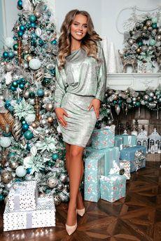 Блестящее платье с серебристыми прожилками Open-Style
