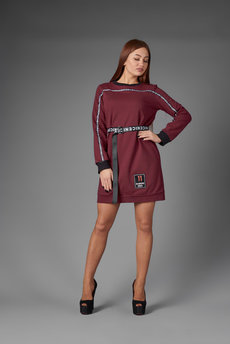 Трикотажное платье в спортивном стиле Трикотажница