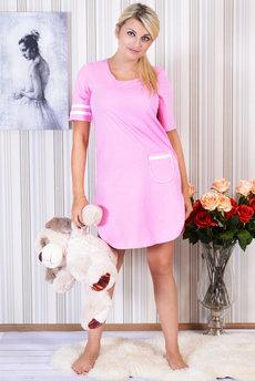 Розовая ночная сорочка Трикотажница со скидкой