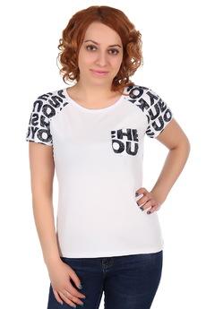 Белая футболка с карманом ElenaTex