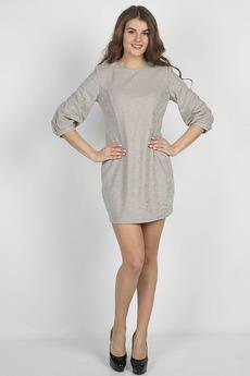 Бежевое короткое платье Bast